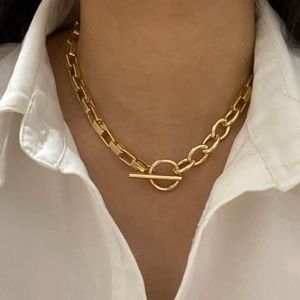 ***New** 18k Chunky Gold Chain Necklace